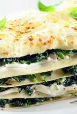 Lasagne geitenkaas & spinazie (vegetarisch)