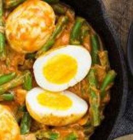Goreng Telor met eieren, bonen & rijst (V)