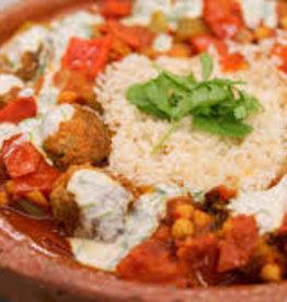 Lamskefta groente en rijst