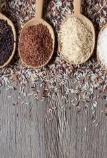 Karbonade met uiensaus, zilvervliesrijst & groenten