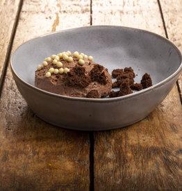 NIEUW; Chocolade bavarois met crumble van brownie
