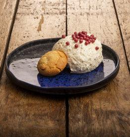 NIEUW; Bavarois van bitterkoekjes met chocolade parels