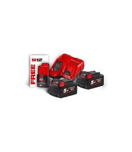 Milwaukee Accu Milwaukee M18NRG-502 / 2 x 18,0V 5,0Ah Li-Ion + Lader