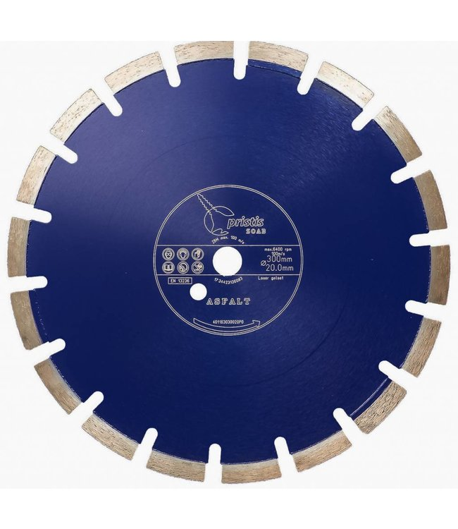 Pristis 300/20,0mm Pristis ZOAB diamz. BV/PS Asfalt laser gelast
