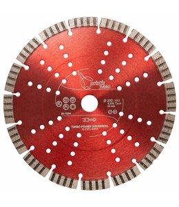ZBM Diamond Tools 230/22,2mm Pristis Turbo-Power universeel rood