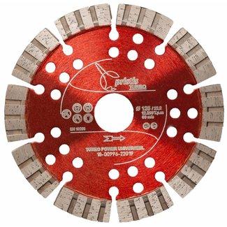 Pristis 125/22,2mm Pristis Turbo-Power universeel rood