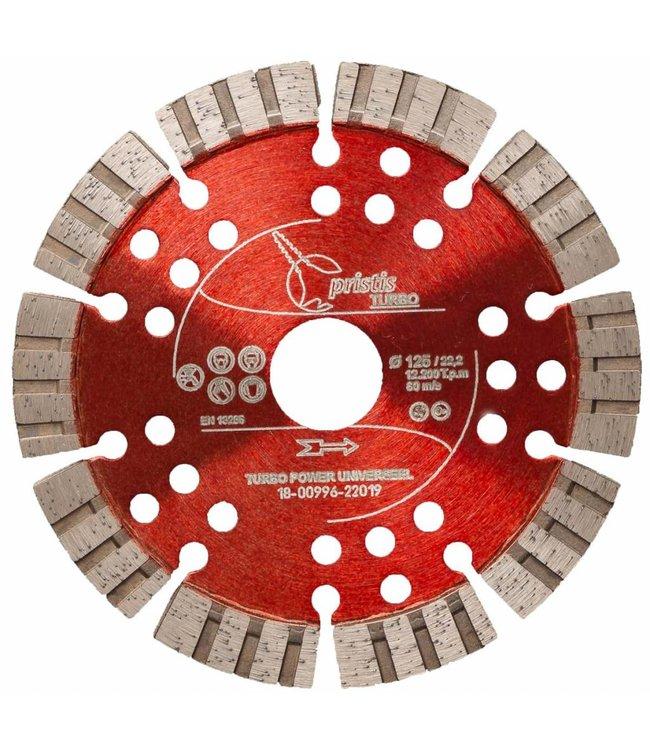 ZBM Diamond Tools 125/22,2mm Pristis Turbo-Power universeel rood