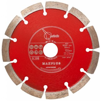 Pristis   Maxplus 150/22,2mm Pristis Maxplus universeel rood