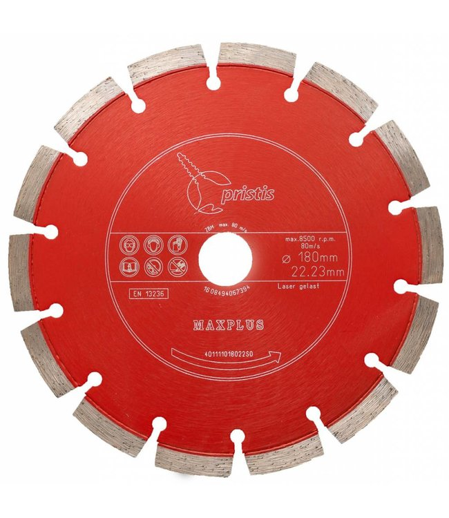 Pristis 180/22,2mm Pristis Maxplus universeel rood