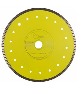 Pristis 250/30,0/25,4 x 1,6mm Gres-Turbo keramiek/graniet  geel
