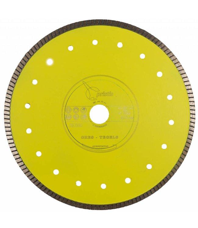 Pristis 250/30,0/25,4 x 1,6mm Gres keramiek/graniet Turbo geel