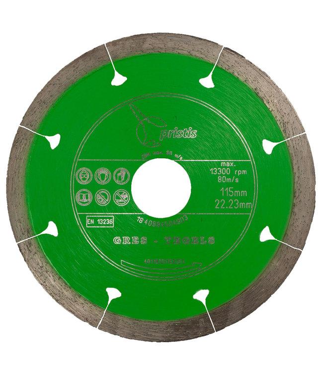 Pristis Diamantzaag-115/22,2mm x 1,5mm Gres-Joint-Segm. keramiek tegels groen