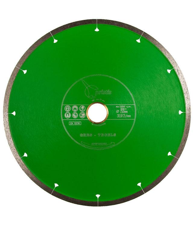 Pristis Diamantzaag-250/30,0/25,4mm x 1,6mm Gres-Joint-Segm. keramiek tegels groen