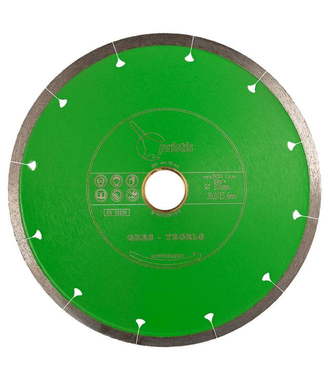 Pristis 200/30,0/25,4mm x 1,6mm Gres/keram. tegels/Joint-Segm. groen