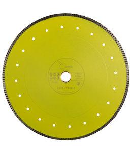 Pristis 350/30,0/25,4mm Gres keramiek/graniet Turbo 2,3mm geel