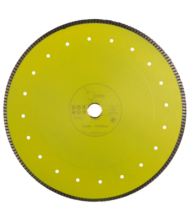 Pristis 350/30,0/25,4mm x 2,2mm Gres-Turbo keramiek/graniet  geel