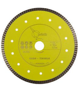 Pristis 180/22,2mm x 1,6mm Gres-Turbo keramiek/graniet  geel