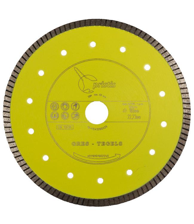 Pristis 180/22,2mm Gres keramiek/graniet Turbo 1,6mm geel
