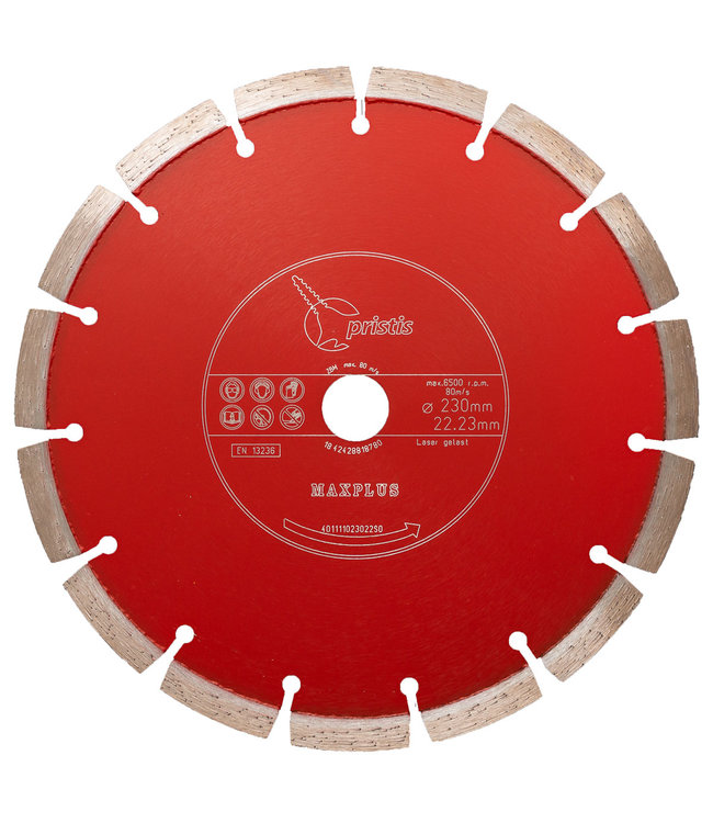 Pristis Diamantzaag-350/20,0mm Pristis Maxplus universeel rood motorslijper Xtra