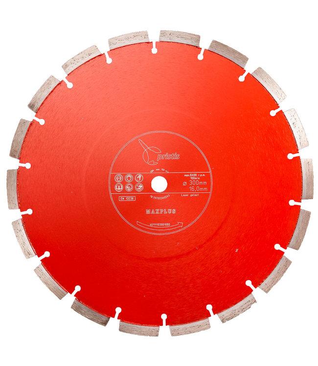 Pristis 300/15,88mm Pristis Maxplus universeel rood handmuurzg