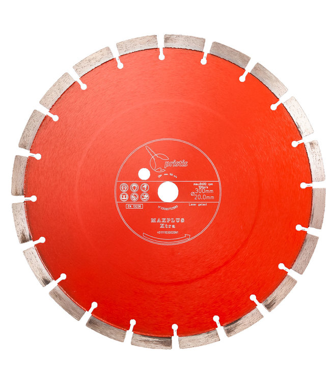 Pristis 300/20,0mm Pristis Maxplus universeel rood motorslijper Xtra