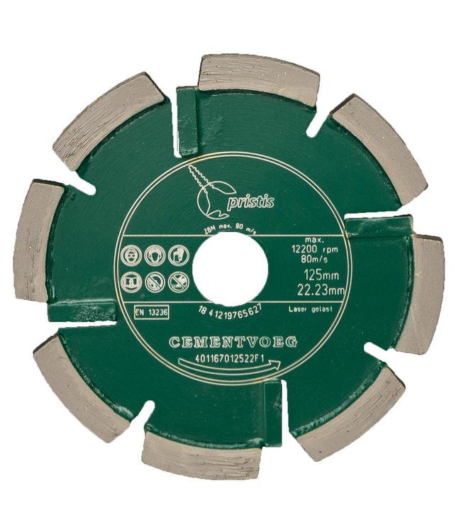 Pristis 125/22,2x8,0mm Pristis Cementvoegenzaag slijtvast groen