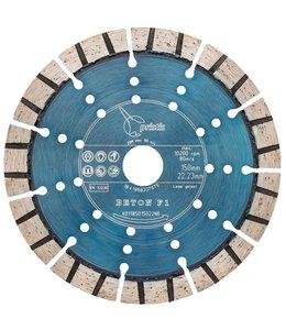 ZBM Diamond Tools 150/22,2mm Pristis Beton F1 turbo segment metallic blauw