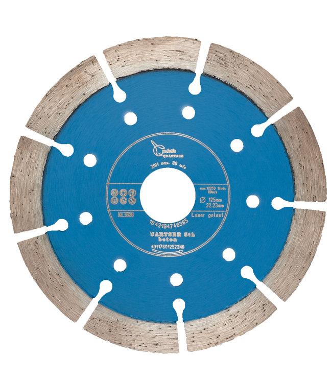 Pristis Diamantzaag-125/22,2mm Pristis Quartser 5th Beton lichtblauw