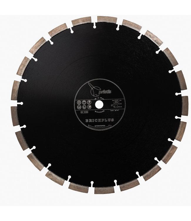 Pristis Diamantzaag-350/15,88mm Pristis Brickplus 13mm Segm. baksteen zwart