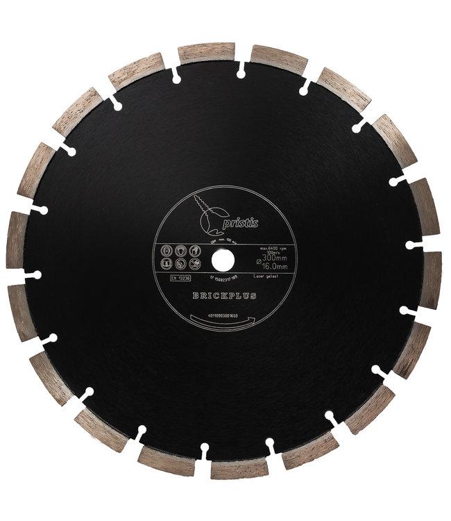Pristis Diamantzaag-300/15,88mm Pristis Brickplus 13mm Segm. baksteen zwart