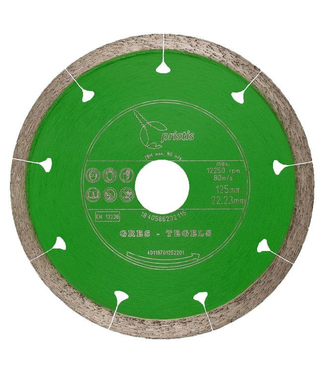 Pristis Diamantzaag-125/22,2mm x 1,5mm Gres-Joint-Segm. keramiek tegels groen