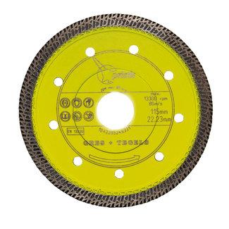 Pristis 115/22,2mm x 1,4mm Gres-Turbo keramiek/graniet  geel