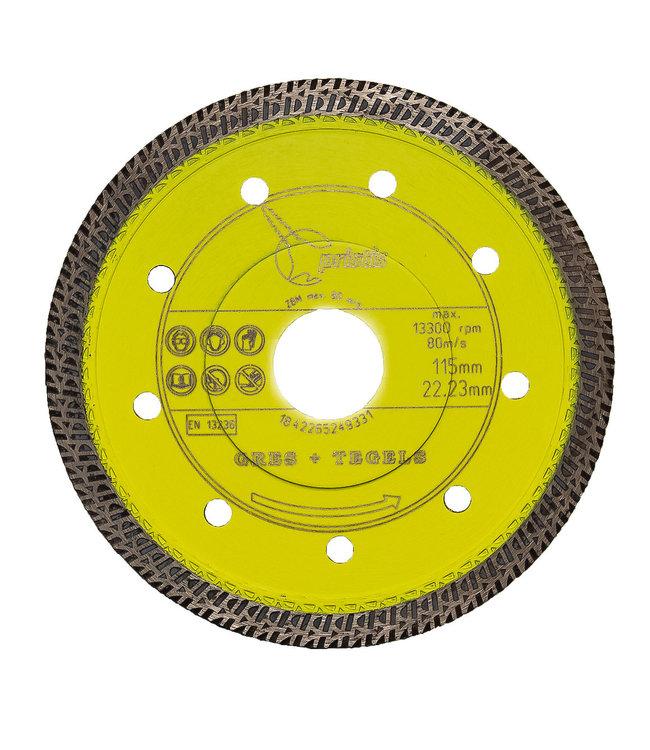 ZBM Diamond Tools 115/22,2mm x 1,4mm Gres-Turbo keramiek/graniet  geel