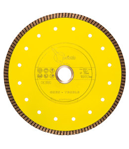 Pristis 200/22,2mm x 1,6mm Gres-Turbo keramiek/graniet  geel
