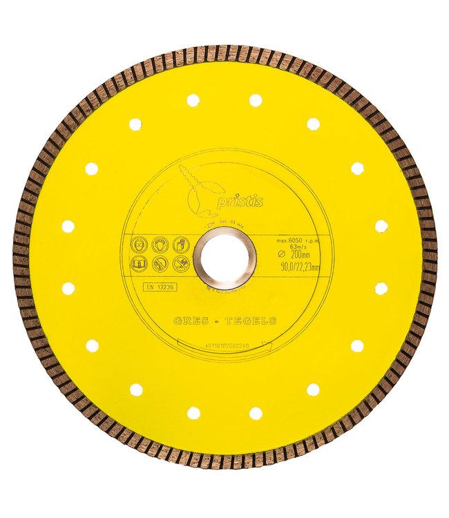 ZBM Diamond Tools Diamantzaag-200/22,2mm x 1,6mm Gres-Turbo keramiek/graniet  geel