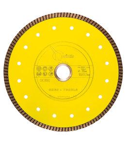 Pristis 200/30,0/25,4mm x 1,6mm Gres-Turbo keramiek/graniet  geel