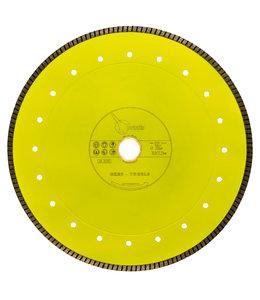 Pristis 300/30,0/25,4x 2,2mm Gres-Turbo keramiek/graniet  geel