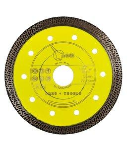 Pristis 125/22,2mm x 1,4mm Gres-Turbo keramiek/graniet  geel