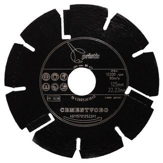 Pristis 125/22,2x2,4mm Pristis Cementvoegenzaag zwart