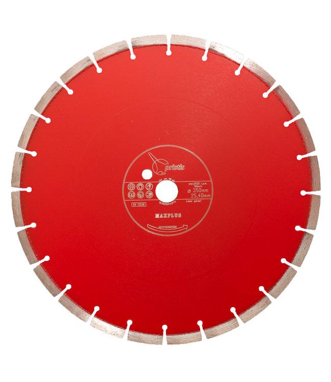 ZBM Diamond Tools Diamantzaag-350/25,4mm Pristis Maxplus universeel rood tafelzaag