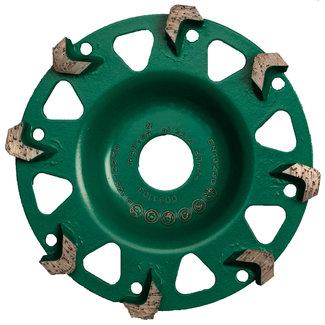 Pristis 125/22,2mm komschijf Raptor RA+ groen