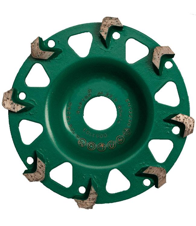 Pristis Diamant komschijf-125/22,2mm komschijf Raptor RA+ groen