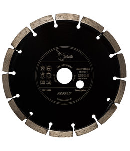 Pristis 200/25,4x9,5mm Pristis Asfaltfrees Zwart ZBM