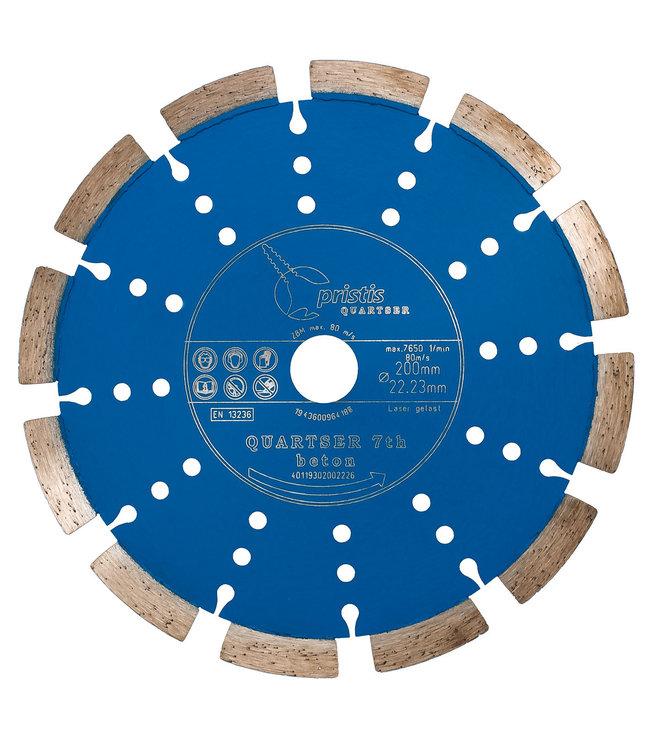 Pristis Diamantzaag-200/22,2mm BV Pristis Quartser 7th Beton licht blauw