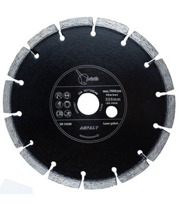 Pristis 200/25,4mm x 5,0mm Pristis Asfaltfrees Zwart ZBM