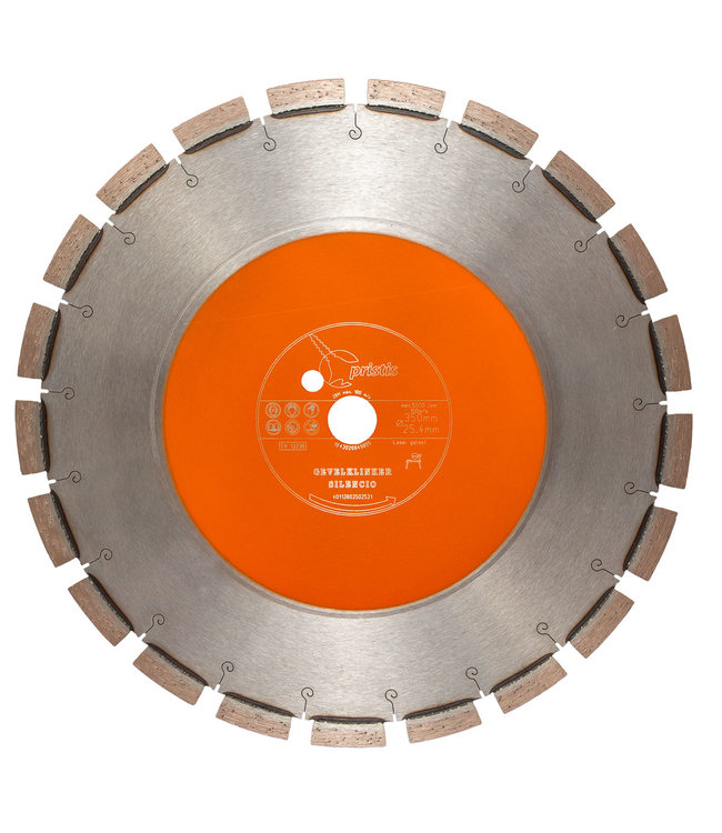 Pristis Diamantzaag-350/25,4mm 3,0x13mm Pristis Gevelklinker Oranje Silencio