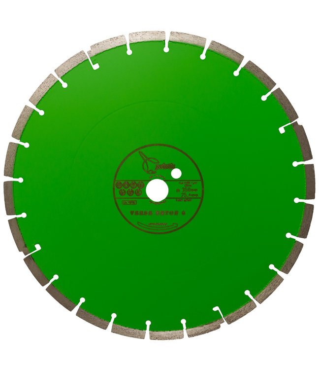 ZBM Diamond Tools Diamantzaag - 350/25,4mm 2,8x12mm Pristis Verse Beton Geelgroen