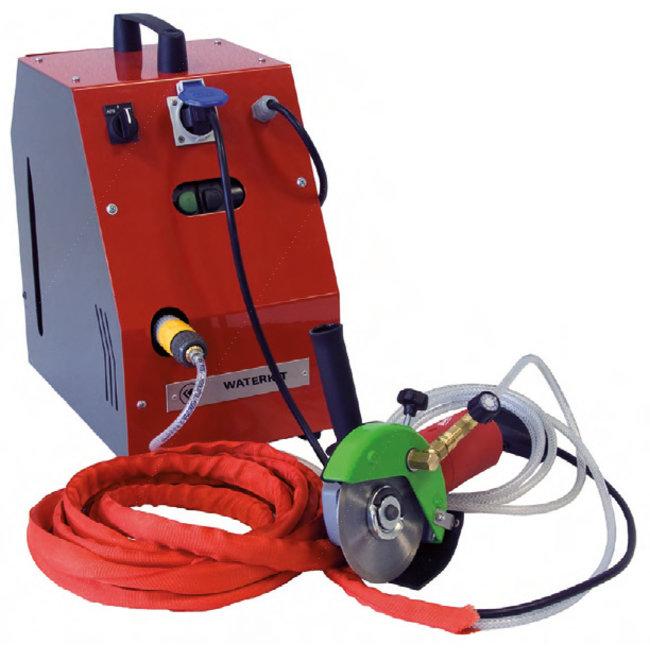 Porter Waterkit 125mm kompleet nat slijpsysteem v. haakse slijper