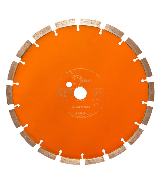 Pristis Diamantzaag-300/25,4mm 2,8x13mm Pristis Gevelklinker Oranje