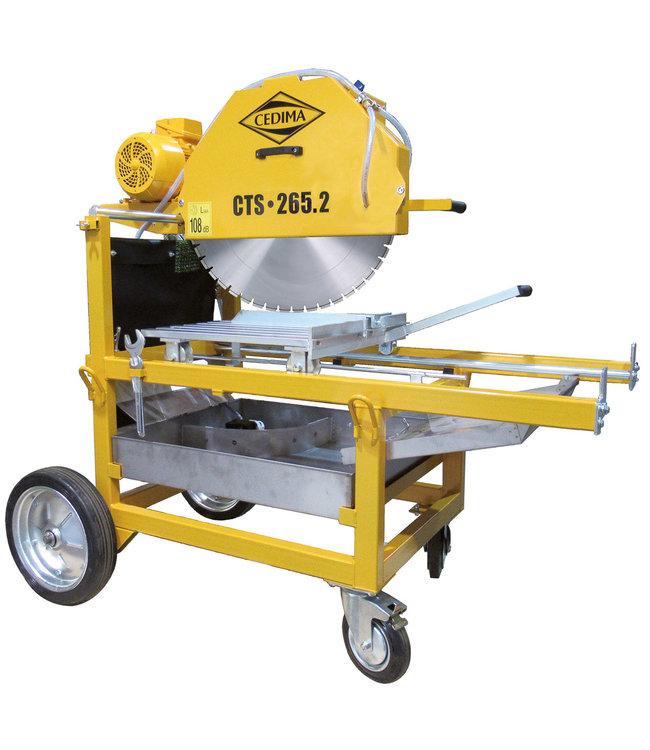 Cedima Steenzaagmach. CTS-265.2 400V-5,5KW, 650 zgbld: 265mm zgdiepte Inclusief gratis 600mm betonzaagblad